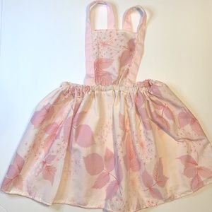Pyrex Pink Gooseberry Inspired pinafore Dress 2t